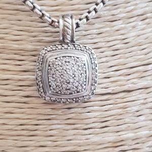 David Yurman Albion 11mm Pave Diamond Pendant